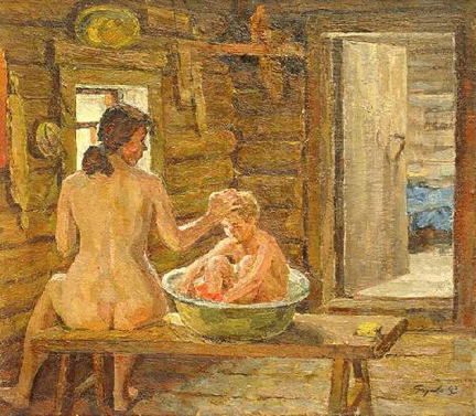 фото в бане подростков