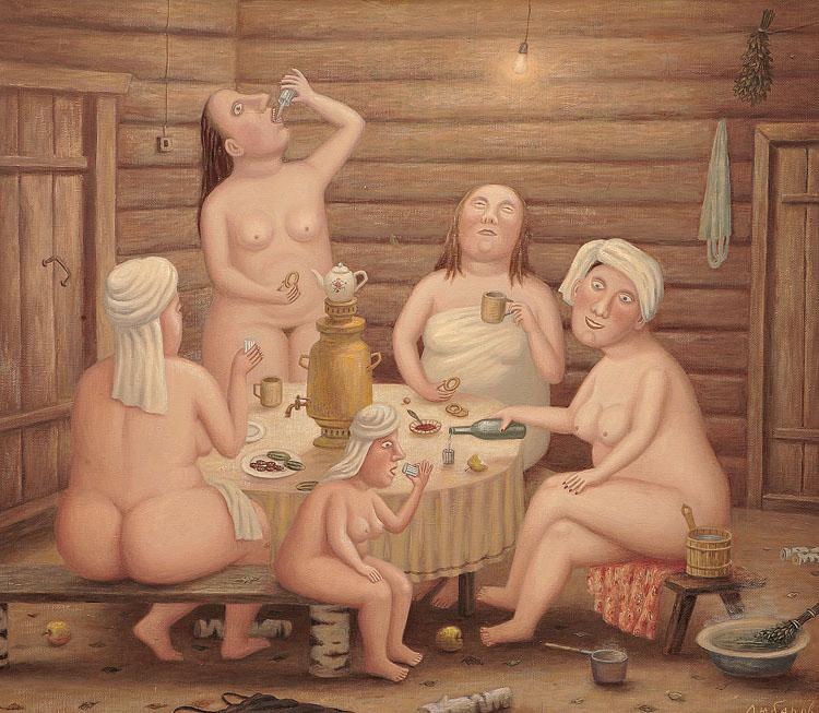 рассказ у деда в бане