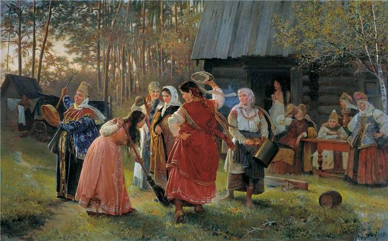 Девичник. Корзухин Алексей Иванович. 1889