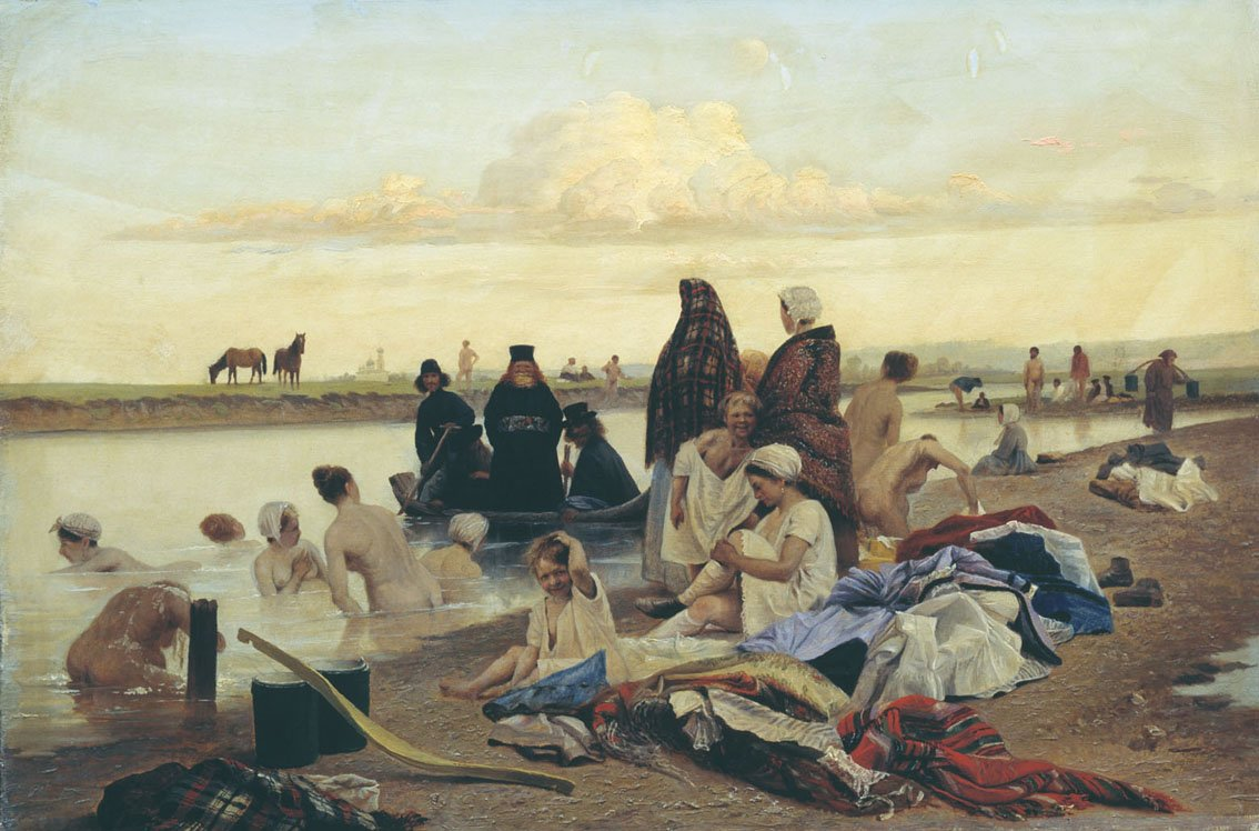 Лев Григорьевич Соловьев (1837 - 1919) Монахи не туда заехали  1870г.
