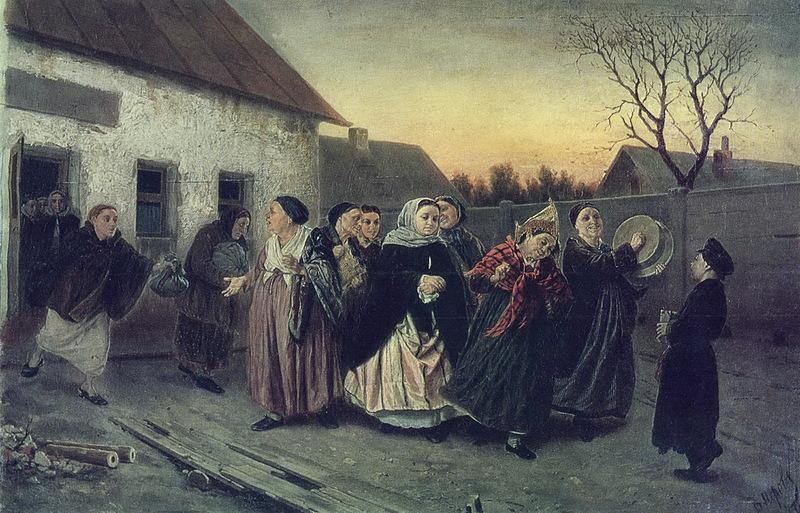 Проводы невесты из бани. Перов Василий Григорьевич. 1870